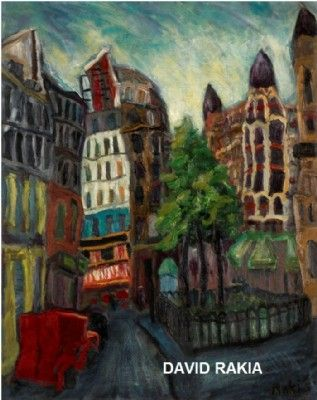 Reaumur st. in Paris 73x92 cm print on canvas