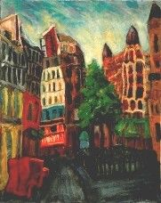 Reaumur street in Paris  Oil ,1957  90x65 cm.