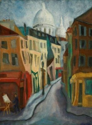 The Church of Sacre Coeur ,Oil, 1957 81x60 cm.