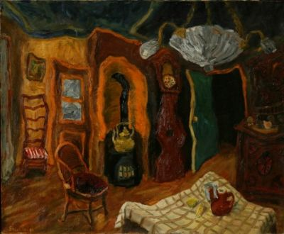 TheLiving Room ,Oil,1954 73x60 cm.