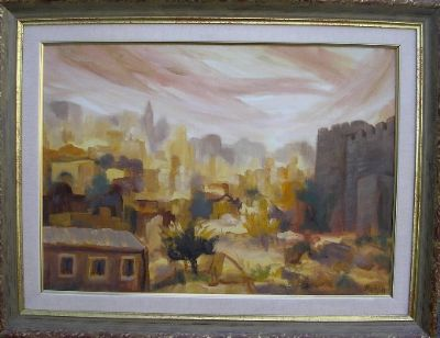 The Valley near the wall of Jerusalem 70x50 cm without the frame , 88x68 cm with the frame